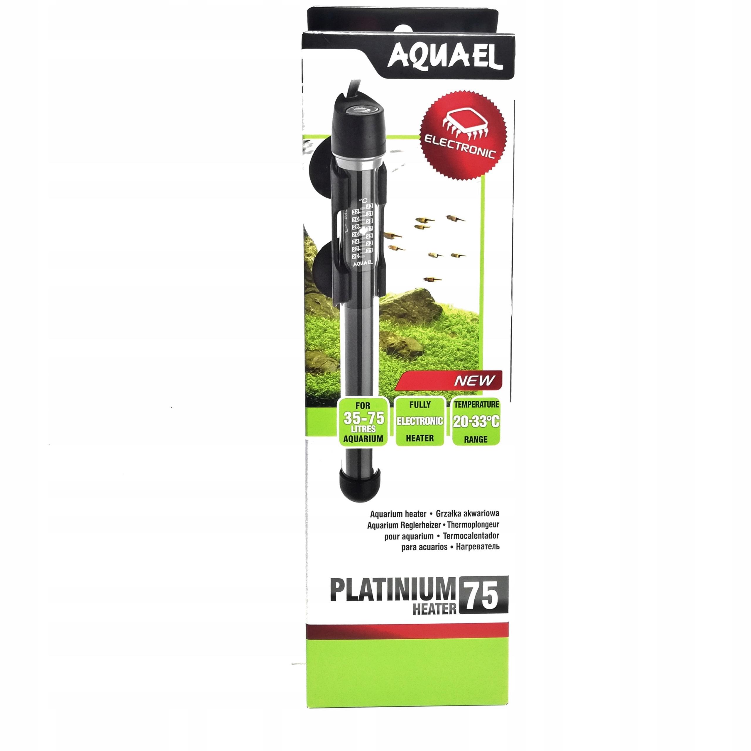 Нагреватель AQUAEL Platinium Heater 75 w на 35-75 л
