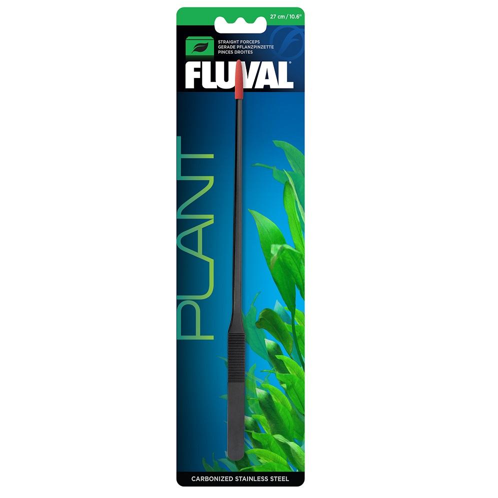 Пинцет Fluval прямой с защитными колпачками 27см