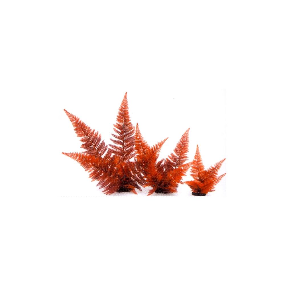 Растение пластиковое Папоротник 20см красный