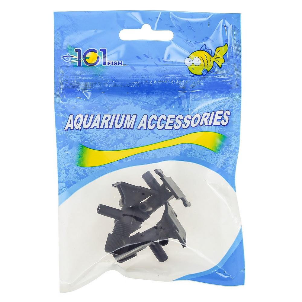 Краник воздушный пластиковый черный  (3 шт)