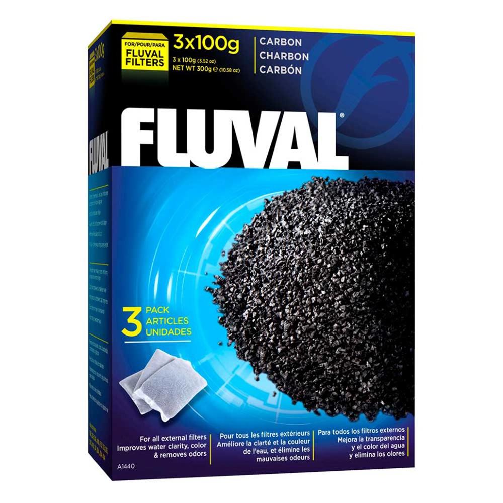 Уголь активированный HAGEN для фильтра (3 мешка) 300г