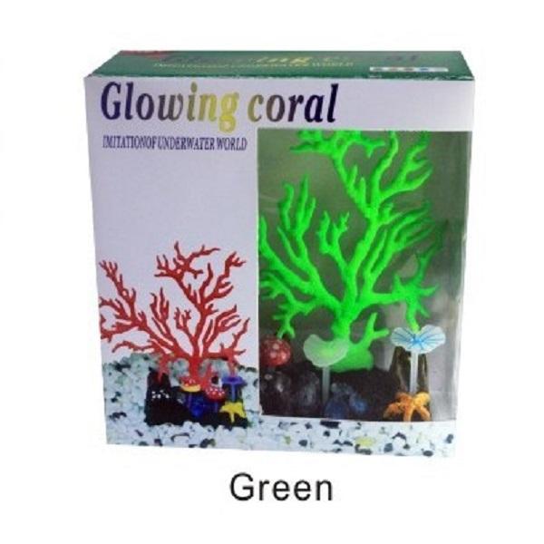 """Коралл """"светящийся"""" зеленый 16*16"""
