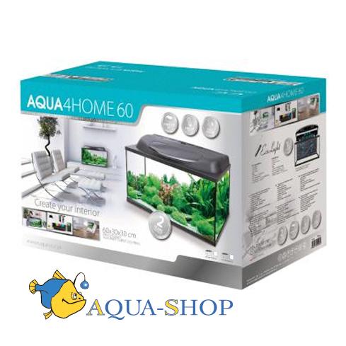 Аквариум Aquael AQUA4HOME 60 45 л, дуговой 60*30*30