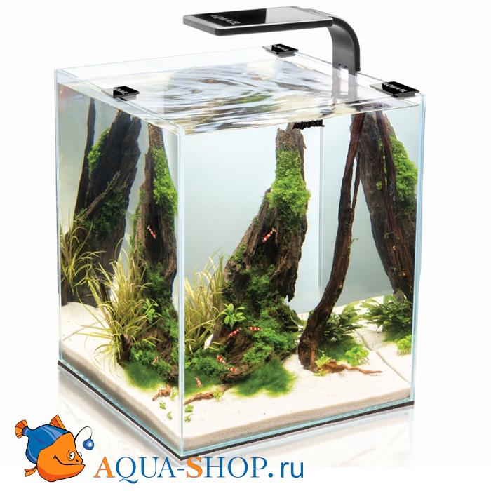 Аквариум Aquael Shrimp Set 10 для креветок SMARTPLANT белый 10л