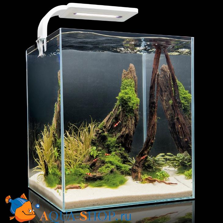 Аквариум Aquael Shrimp Set 20 для креветок SMARTPLANT белый 20л