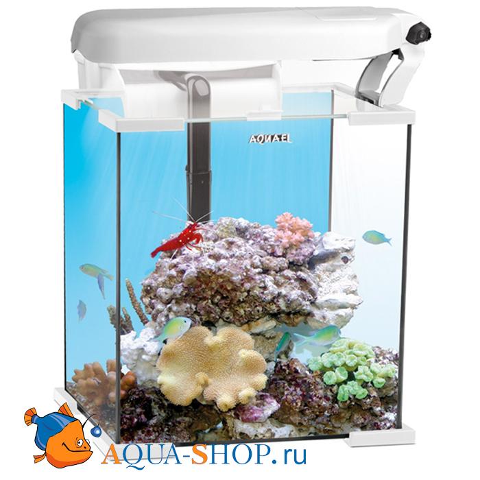 Аквариум морской Aquael NANO REEF LEDDY 30, 30 л (30*30*35)  белый