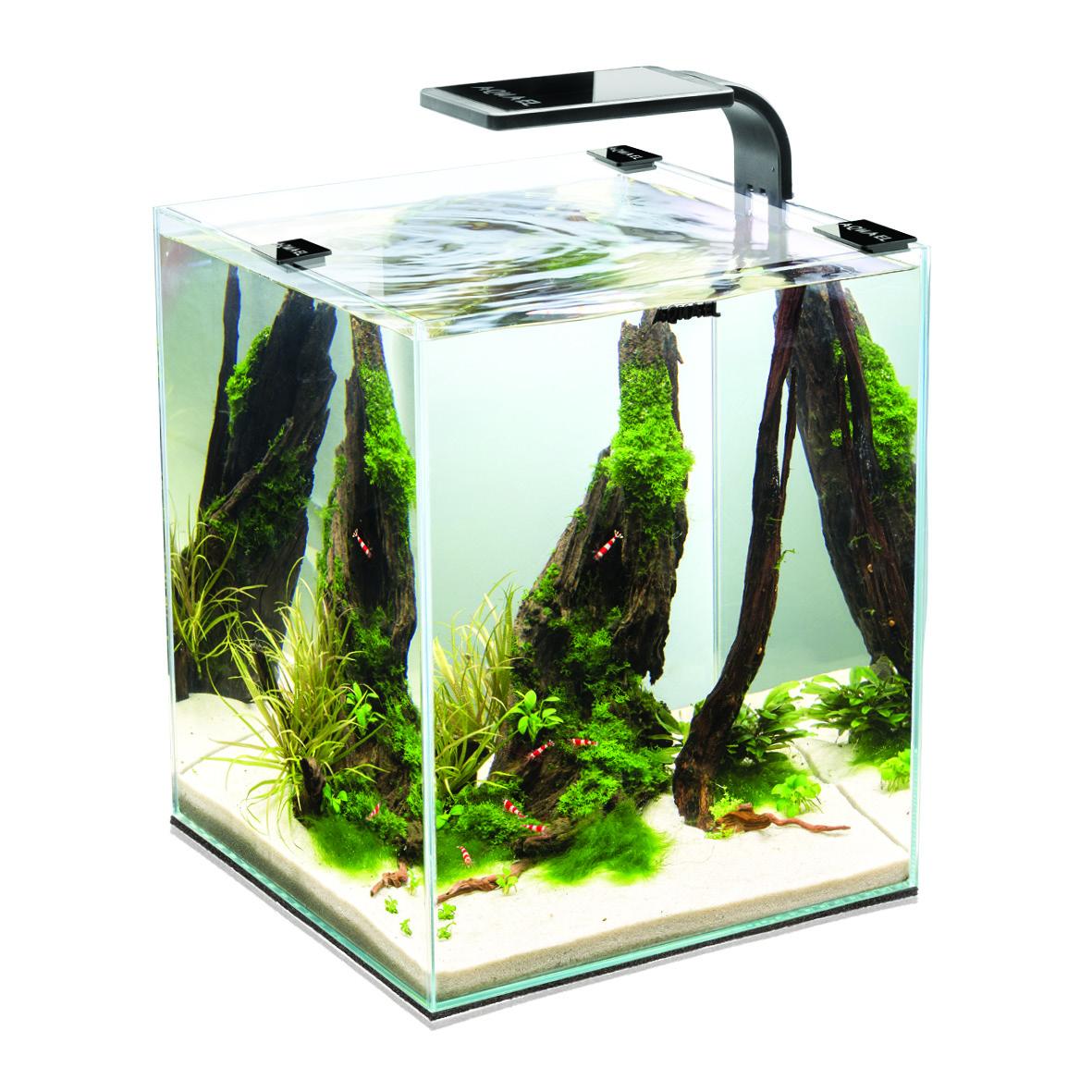 Аквариум Aquael Shrimp Set SMART LED PLANT II черный 10л