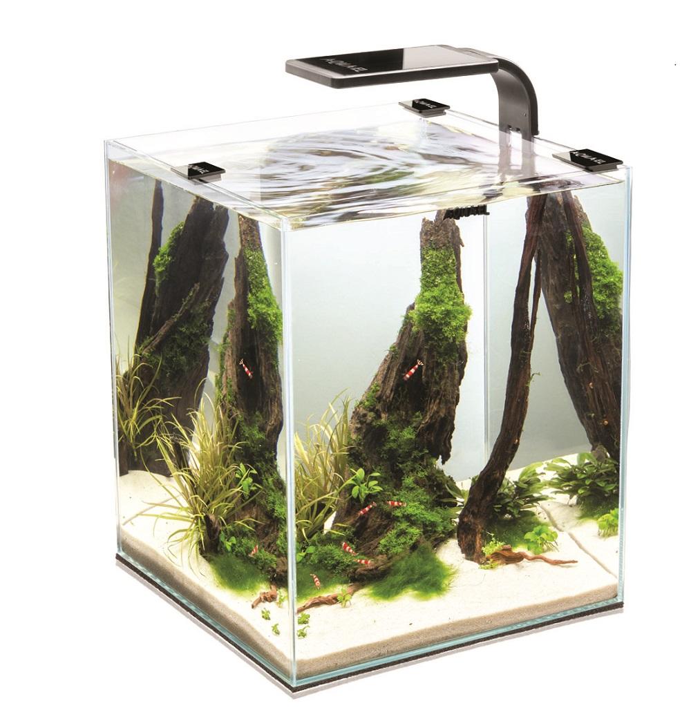 Аквариум Aquael Shrimp Set SMART LED PLANT II чёрный 30л