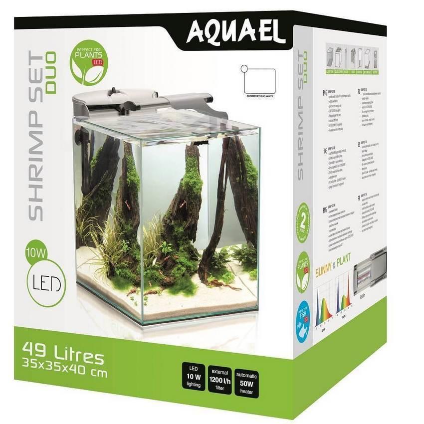 Аквариум Aquael Shrimp Set DUO LED 49 л белый 35*35*40 см