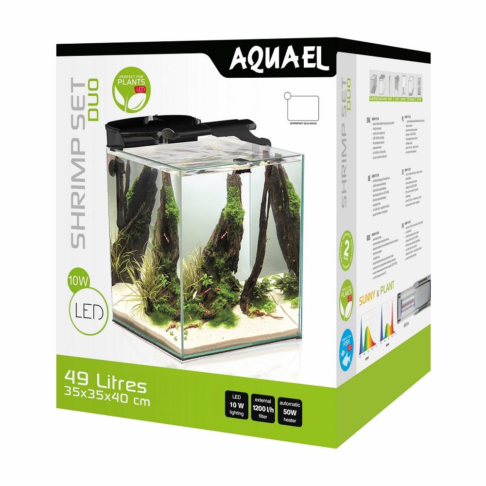 Аквариум Aquael Shrimp Set DUO LED 49 л черный 35*35*40 см