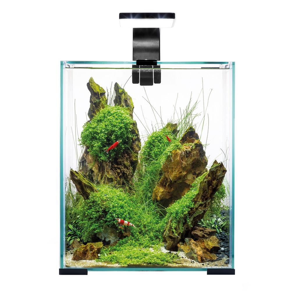 Аквариум Aquael Shrimp Set SMART LED D/N 20/19л черный, 25х25х30см