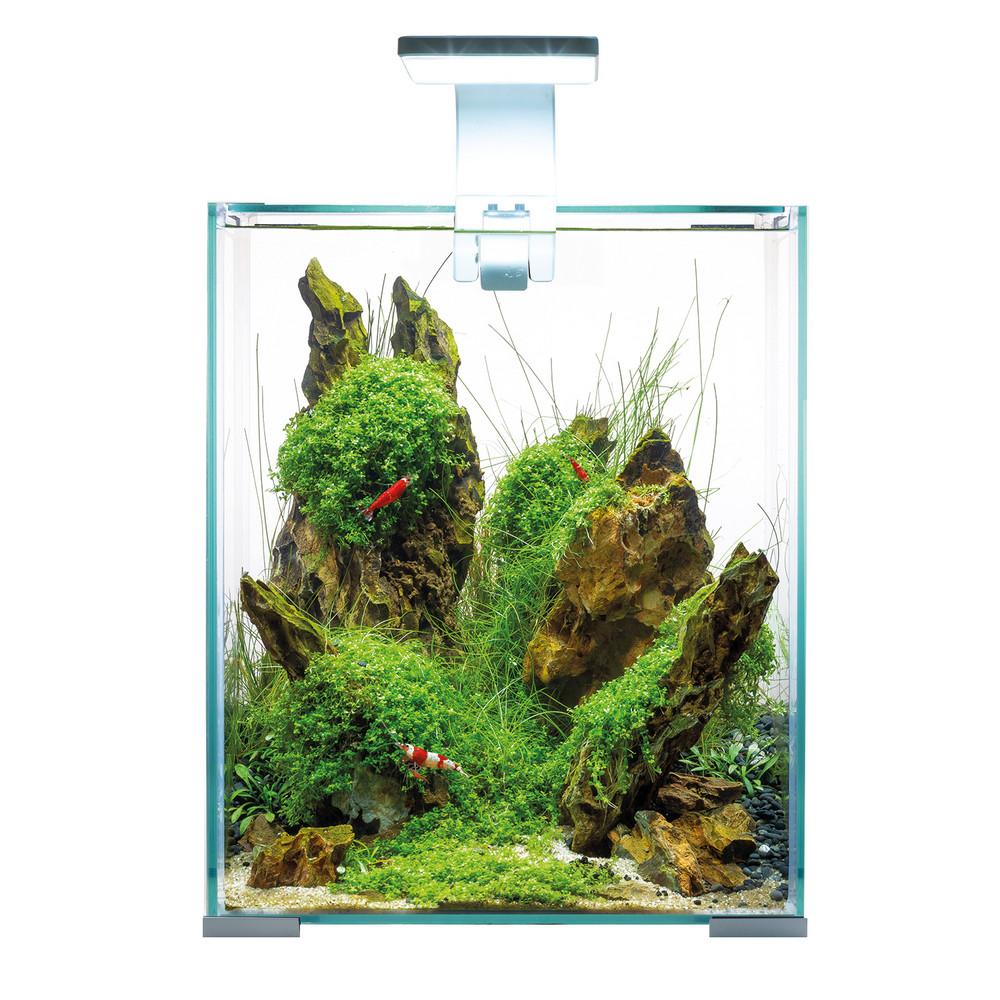 Аквариум Aquael Shrimp Set SMART LED D/N 20/19л белый, 25х25х30см