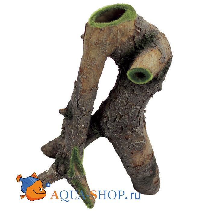 Декоративная композиция ArtUniq Извилистая коряга со мхом, 22,5x14,5x26,5 см