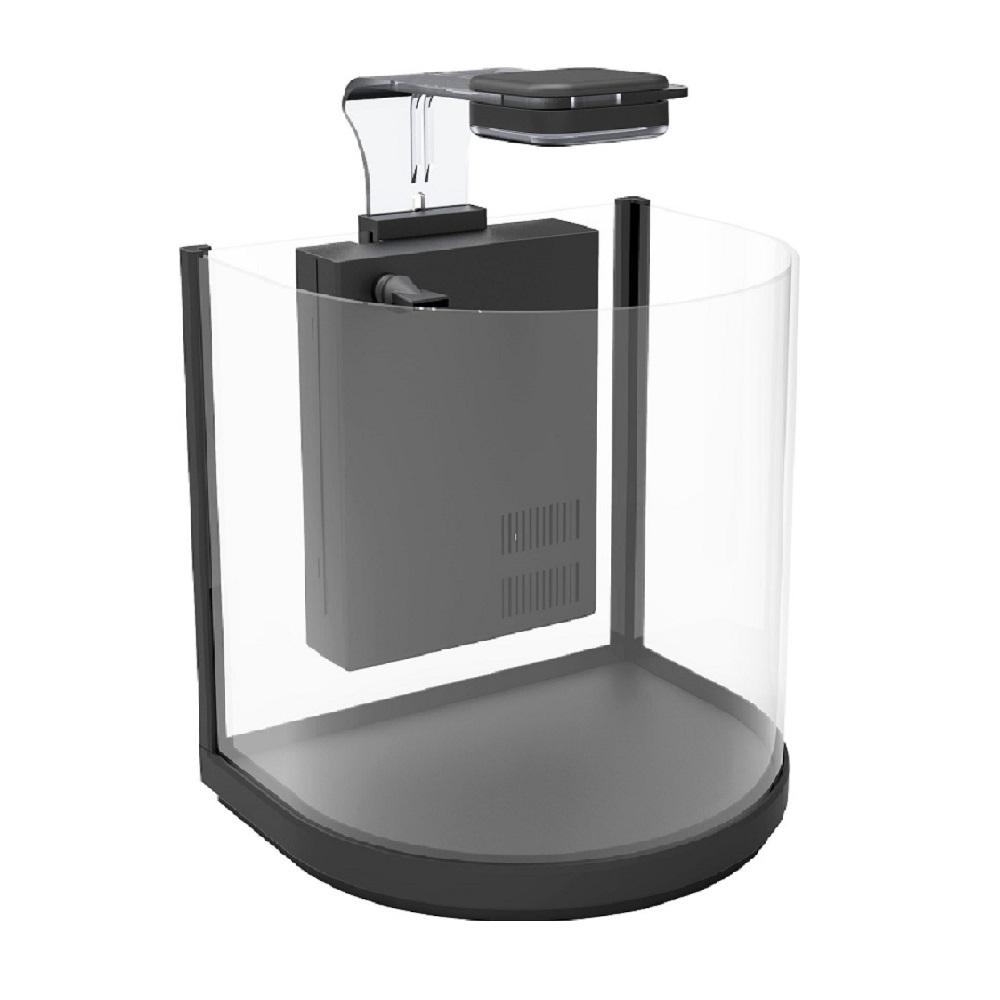 Аквариум дуговой Atman BGT-25 черный, 10 литров, 25,4х21х26см