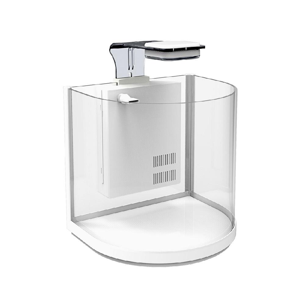 Аквариум дуговой Atman BGT-25 белый, 10 литров, 25,4х21х26см