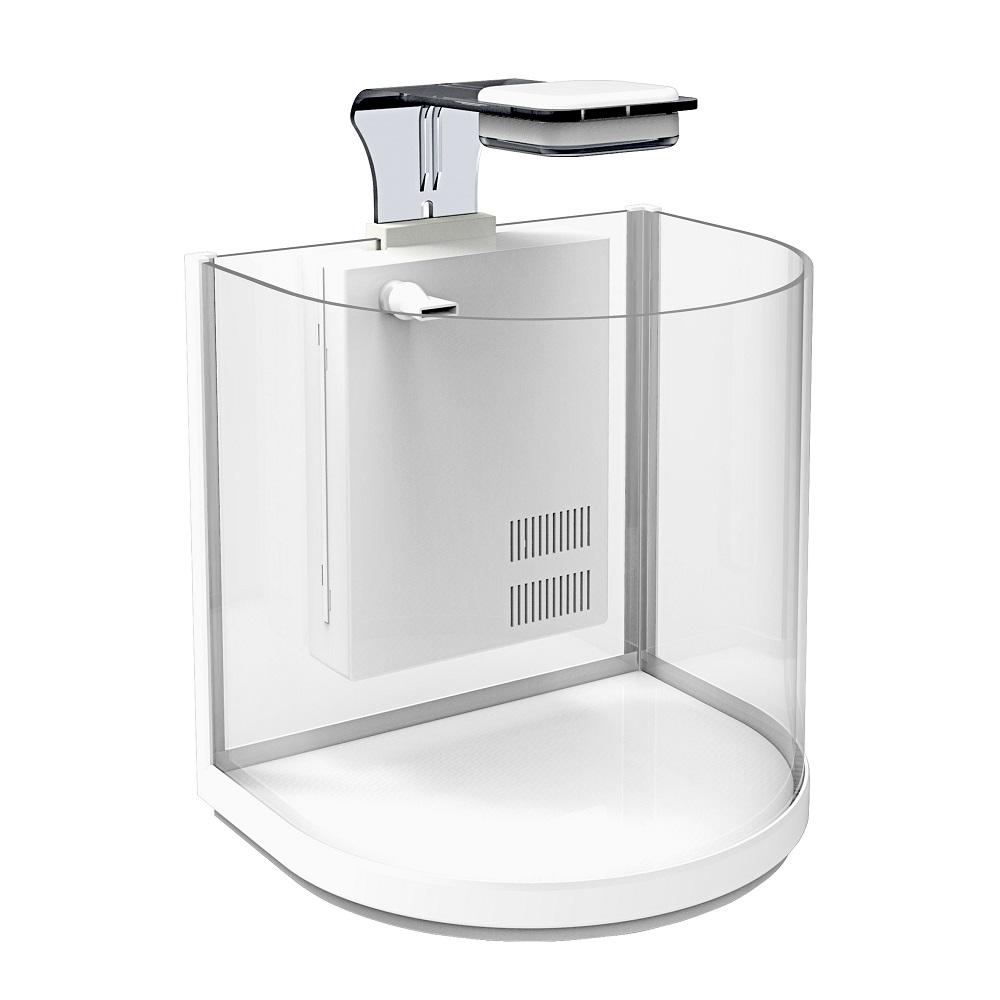 Аквариум дуговой Atman BGT-30 белый, 16 литров, 30,4х23х29см