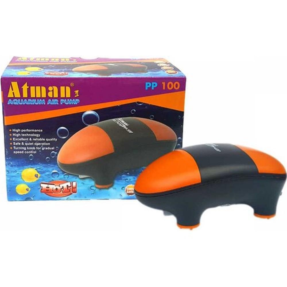 Компрессор Atman PP-100 супертихий для аквариумов до 100 литров, 100 л/ч, нерегулируемый