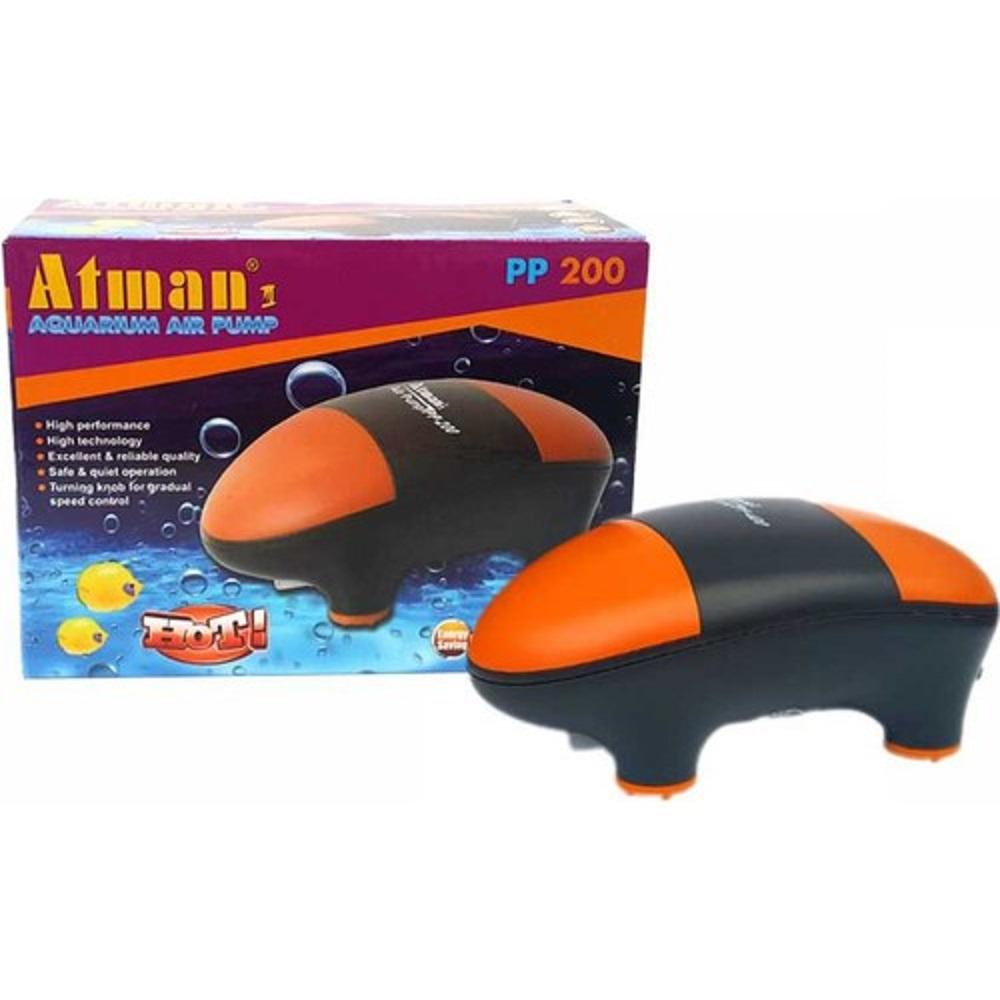 Компрессор Atman PP-200 супертихий для аквариумов до 150 литров, 150 л/ч, нерегулируемый