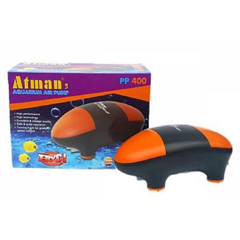 Компрессор Atman PP-400 супертихий для аквариумов до 400 литров, 2х180 л/ч, нерегулируемый