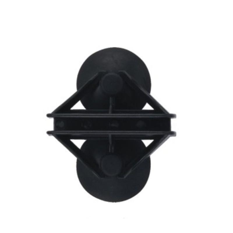Держатель для перегородок 6 мм в аквариуме черный узкий