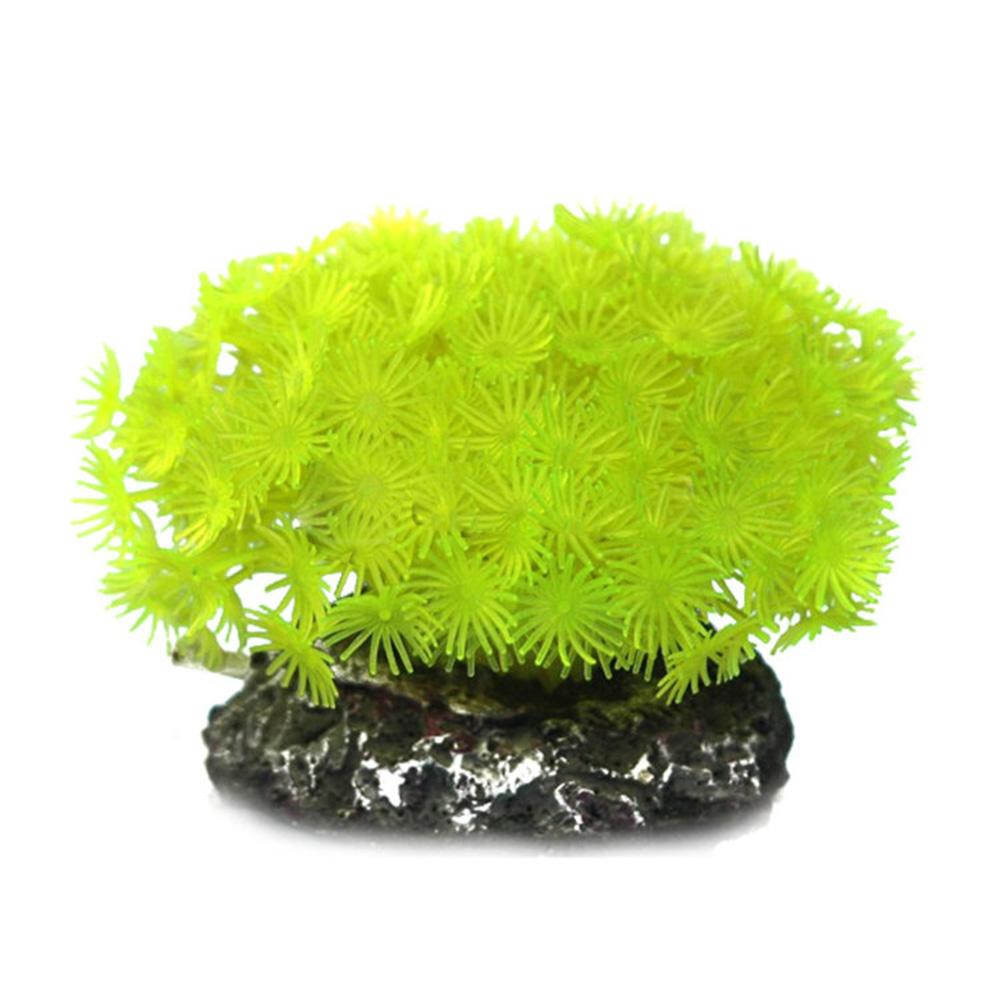 Коралл пластиковый желтый 10х10х10см
