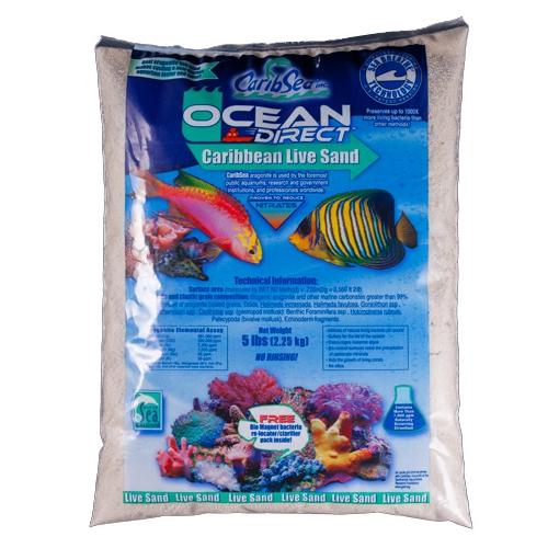 Грунт Carib Sea Ocean-Direct-Oolite живой оолитовый песок 0,1-0,7 мм 9 кг (150931)