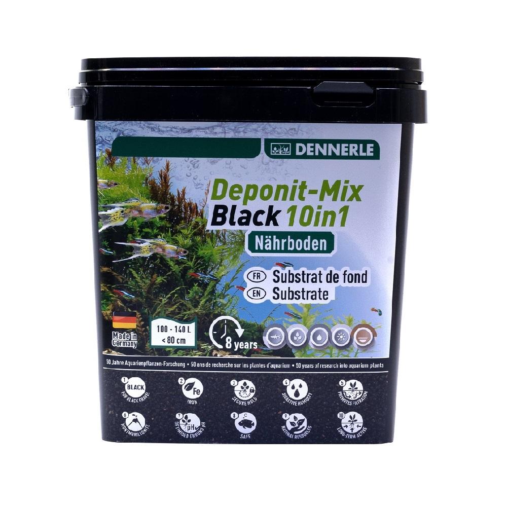 Грунт питательный Dennerle DeponitMix Professional Black 10 в 1 4,8 кг