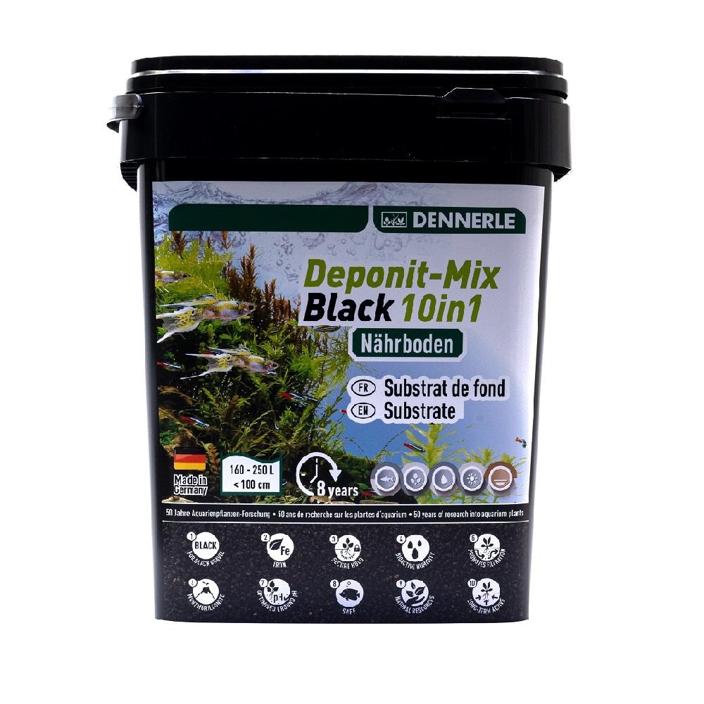 Субстрат питательный Dennerle Deponitmix Professional Black 10in1, 9,6кг