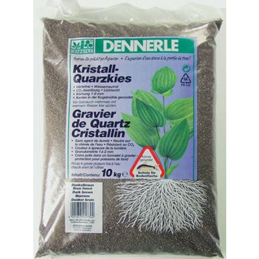 Грунт Dennerle Kristall-Quarz темно-коричневый 1-2 мм 10 кг