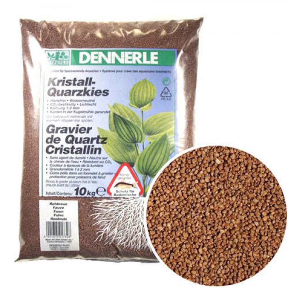 Грунт Dennerle Kristall-Quarz светло-коричневый 1-2 мм 10 кг