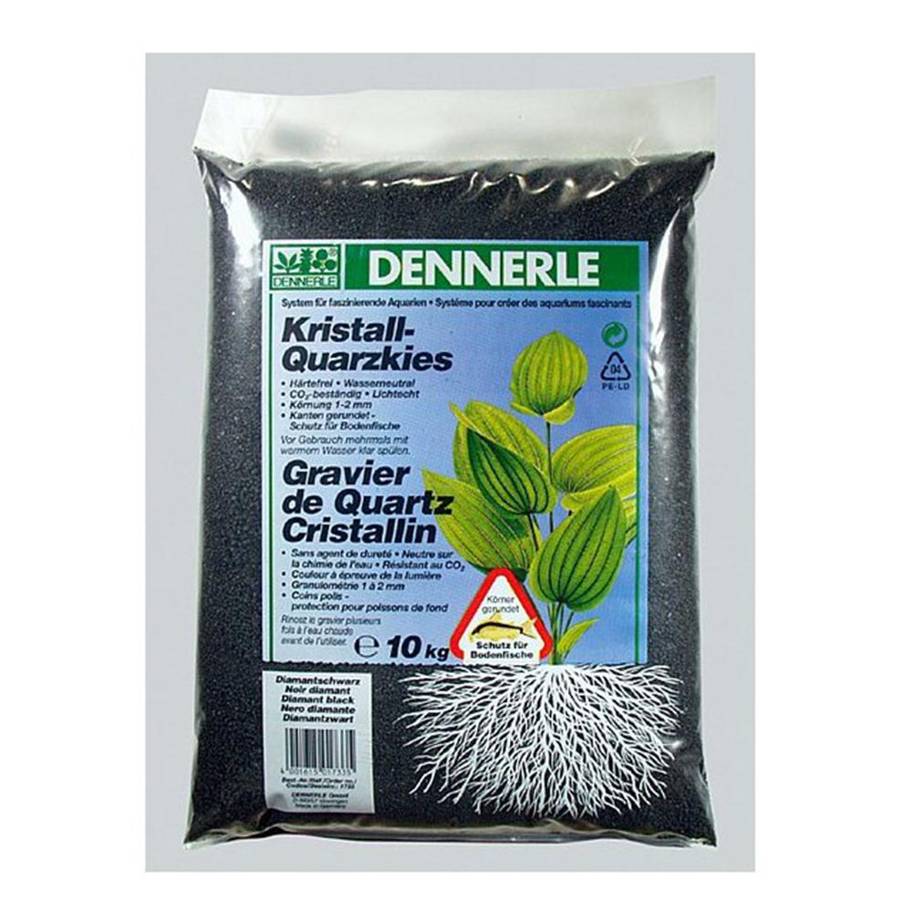 Грунт Dennerle Kristall-Quarz гравий черный 1-2 мм 10 кг