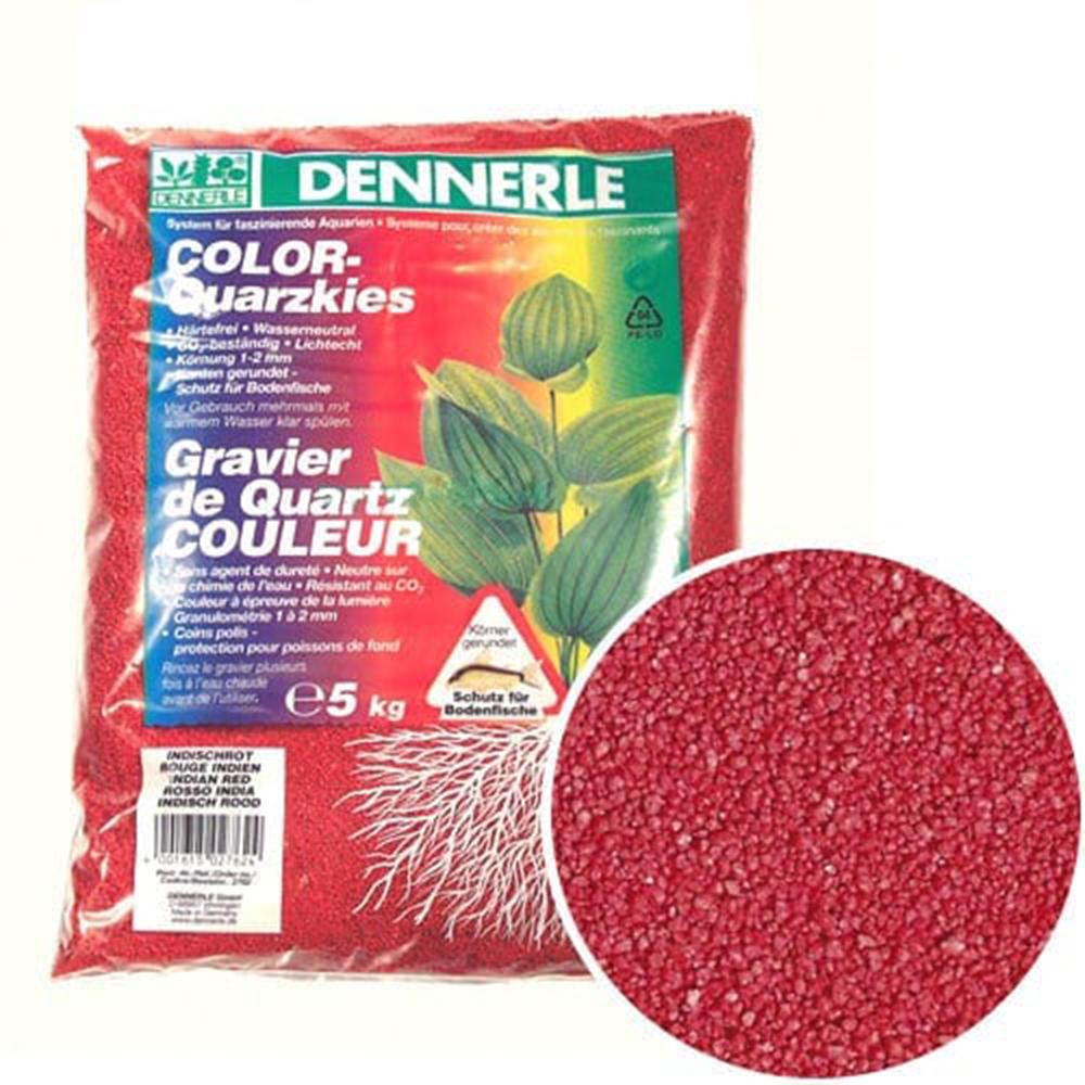 Грунт Dennerle Color-Quarz гравий 1-2 мм 5 кг красный