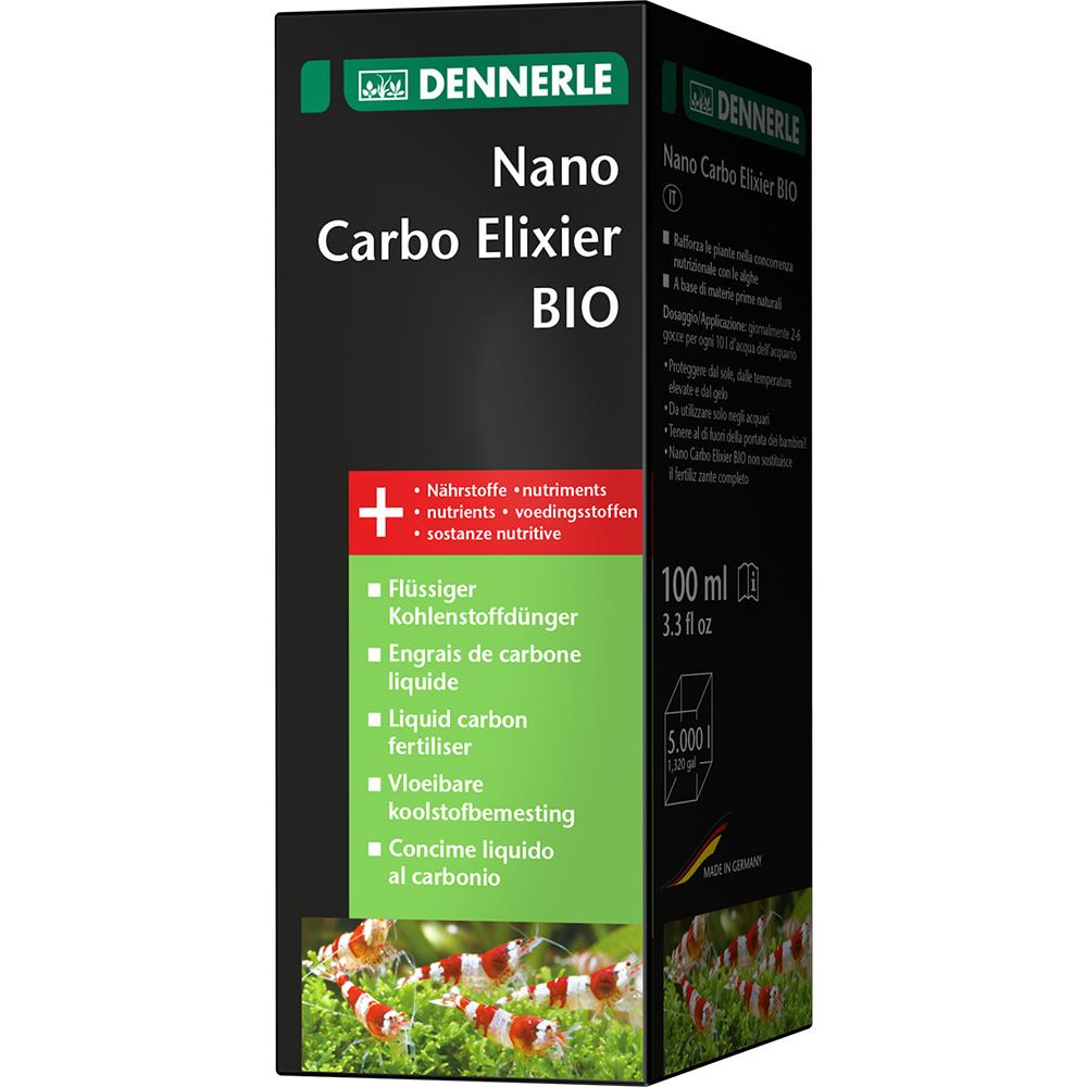 Удобрение Dennerle Nano Carbo Elixier BIO жидкое углеродное с калием и микроэлементами, 100 мл на 5000 л.
