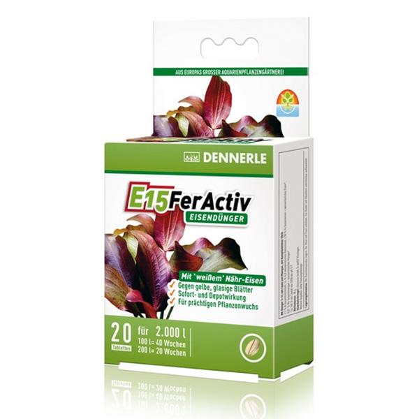 Удобрение DENNERLE E15 FerActive с железом 20таб/2000л