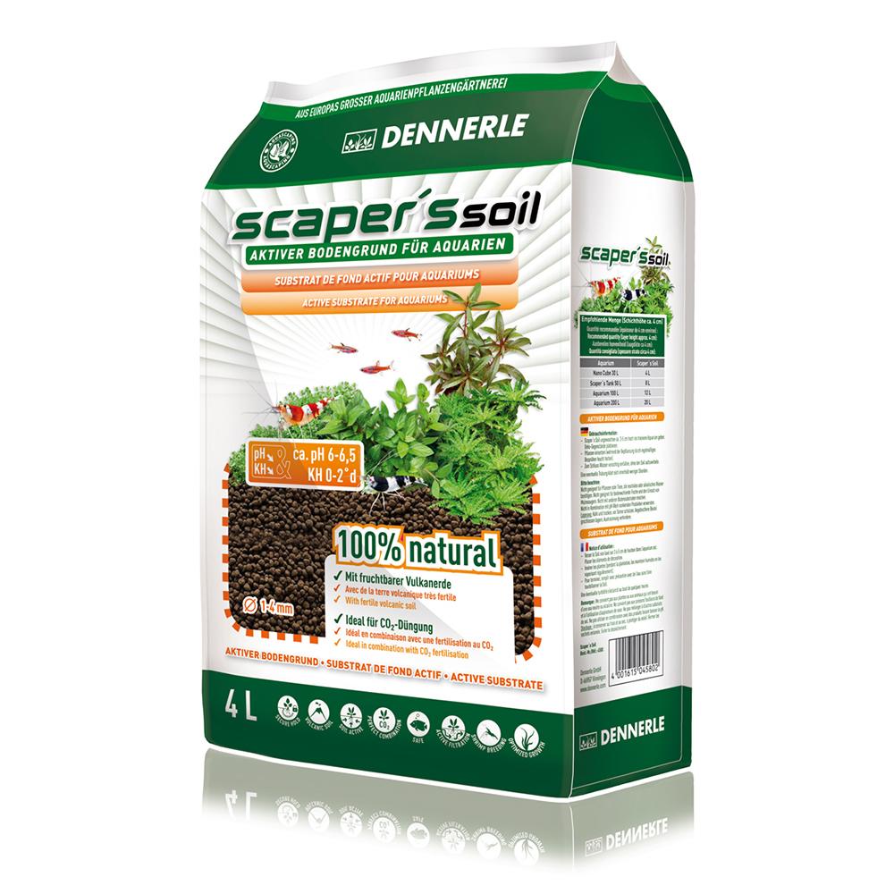 Грунт питательный DENNERLE Scaper`s Soil 1-4мм 4л