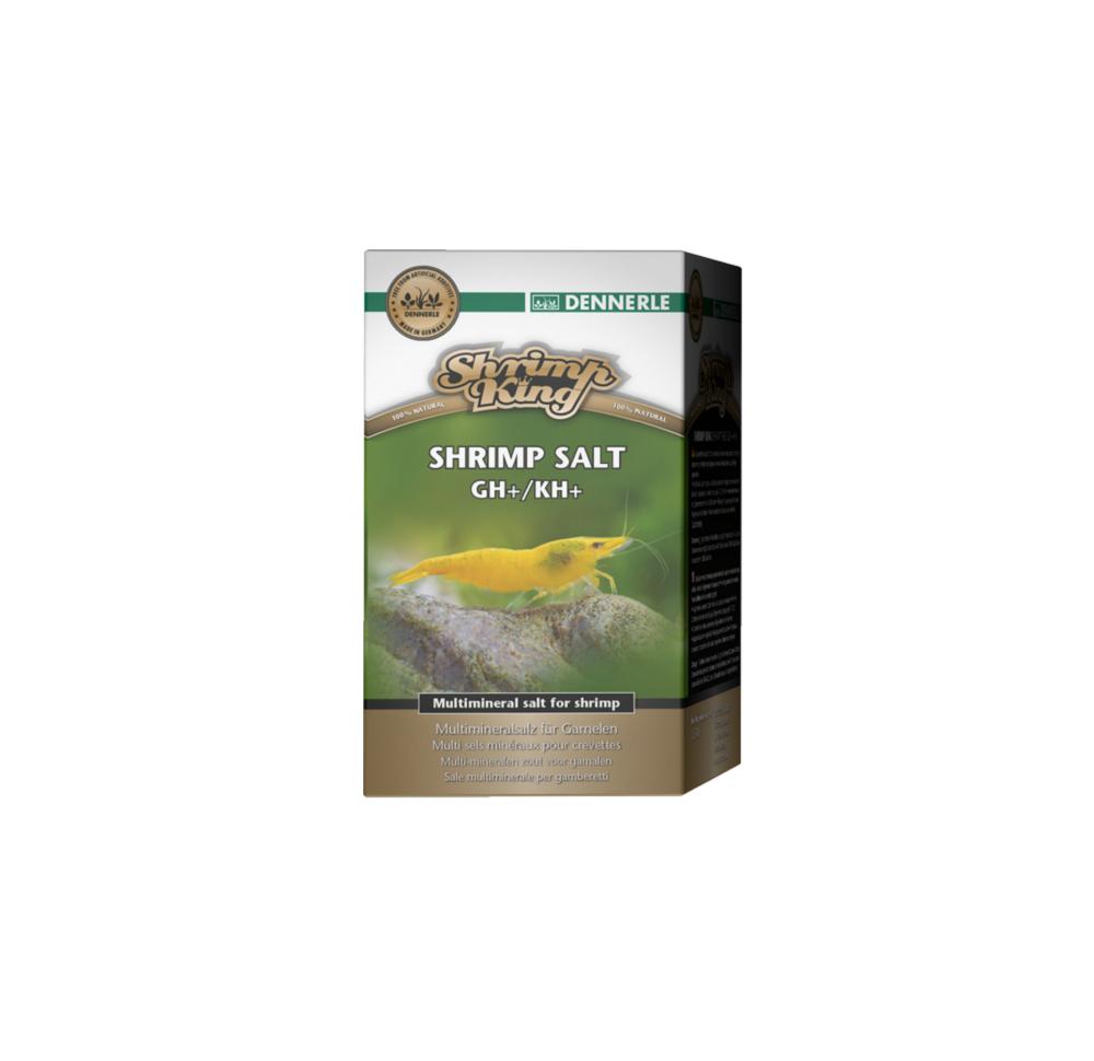 Соль минеральная Dennerle Shrimp King Shrimp Salt GH+/KH+ - для повышения жесткости воды в аквариумах с креветками, 200 г