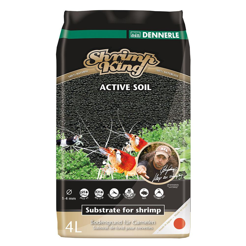 Грунт питательный DENNERLE Shrimp King Active Soil 1-4мм 4л