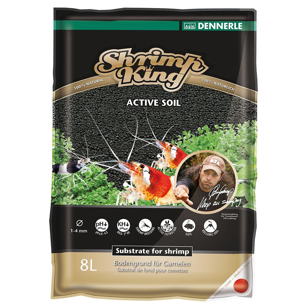 Грунт питательный DENNERLE Shrimp King Active Soil 1-4мм 8л