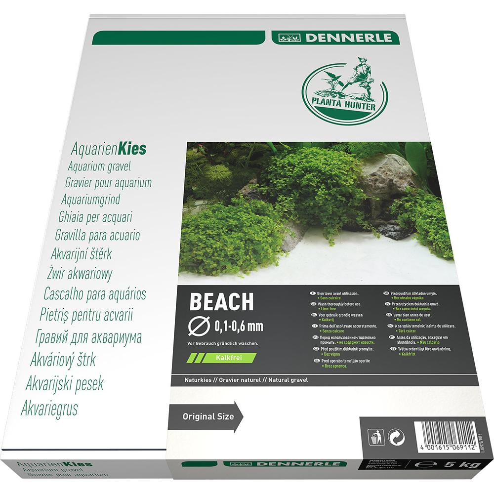 """Грунт Dennerle Nature Gravel """"Beach""""  натуральный песок 0,1-0,6  мм,5 кг"""
