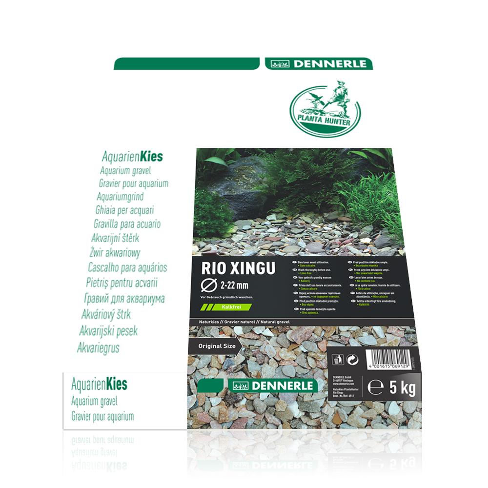 """Грунт Dennerle Nature Gravel """"Rio Xingu MIX"""" гравий натуральный 2-22 мм,5 кг"""
