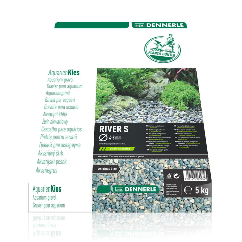 """Грунт Dennerle Nature Gravel """"River S"""" гравий натуральный 4-8 мм,5 кг"""