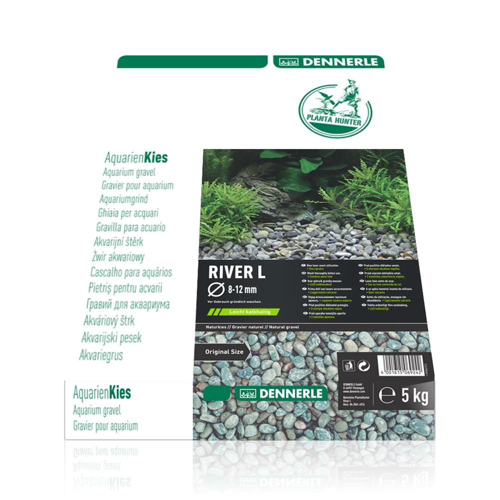 """Грунт Dennerle Nature Gravel """"River L"""" гравий натуральный 8-12  мм,5 кг"""