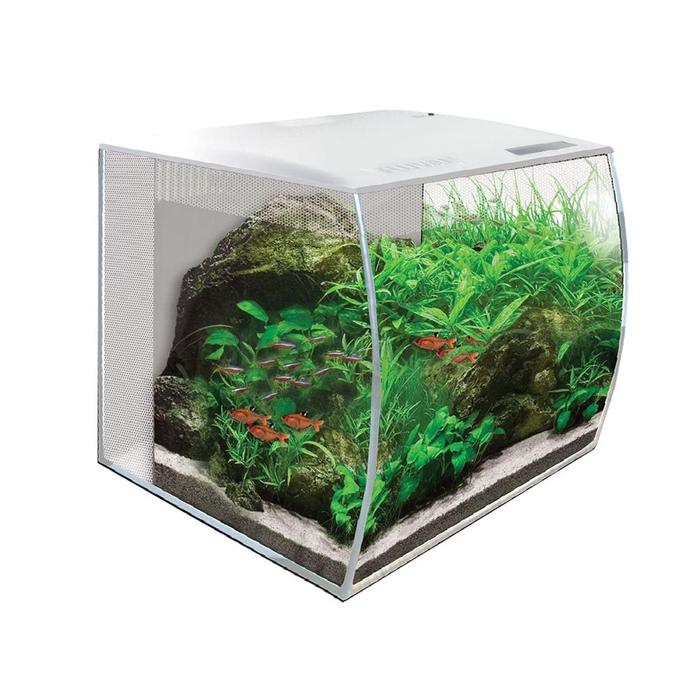 Аквариум Hagen Fluval Flex 34 л с изогнутым стеклом белый