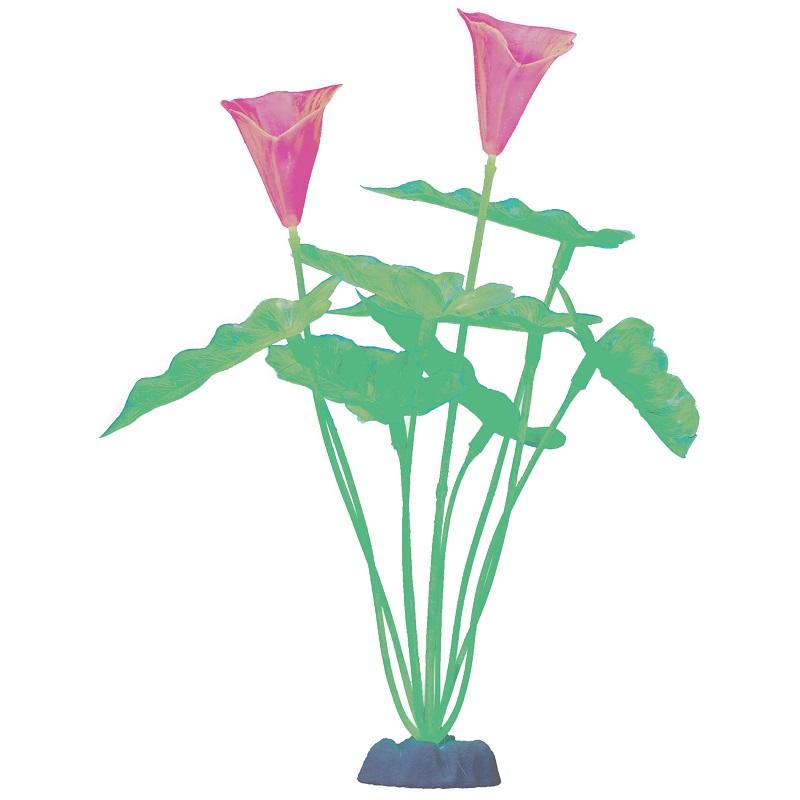 Растение  пластиковое GLOFISH зеленое флуоресцентное 40 см