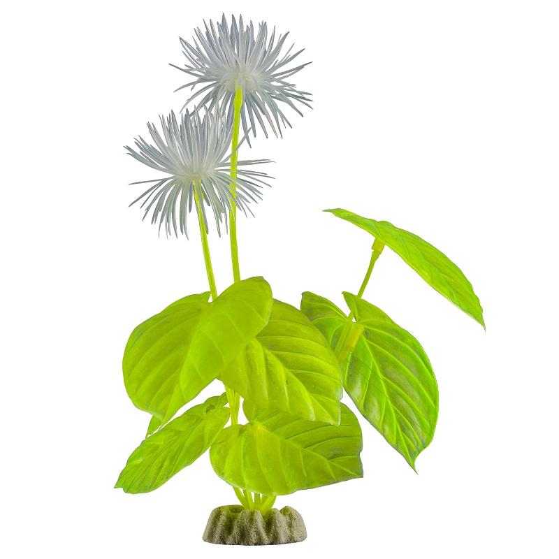 Растение  пластиковое GLOFISH желтое флуоресцентное 29 см
