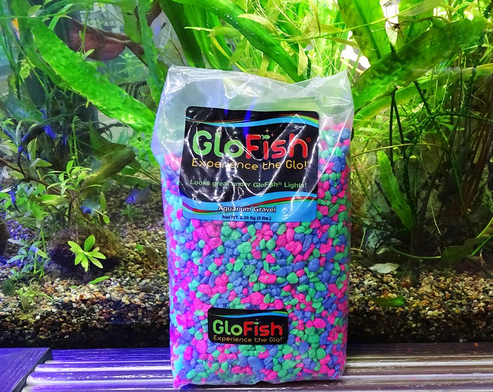 Грунт GLOFISH микс с  флуоресцентными частицами 2,26 кг