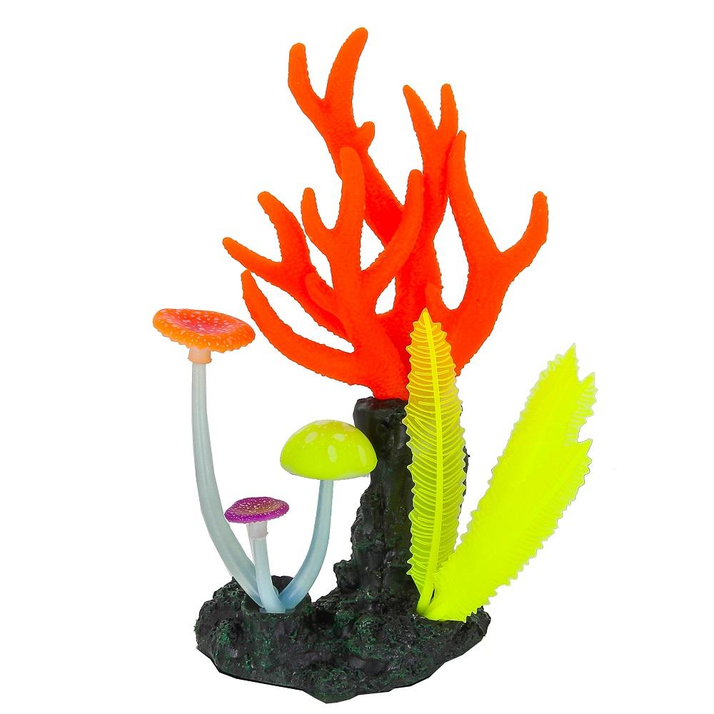 Кораллы розовые GLO 14*6.5*21 см