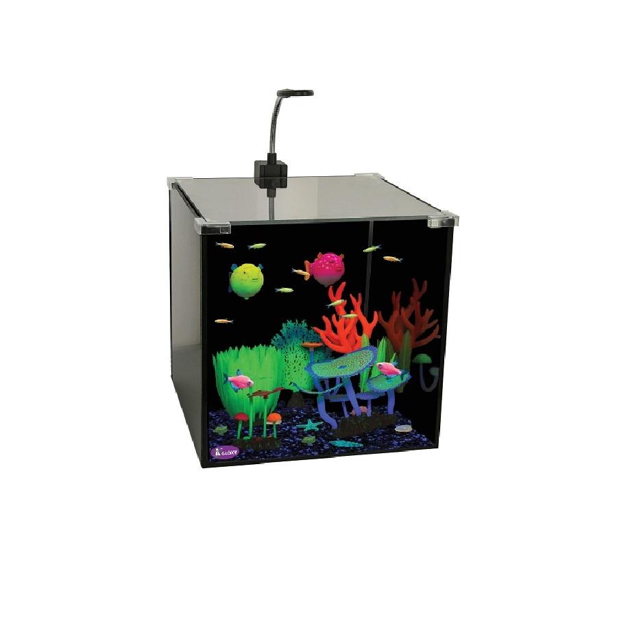 Аквариум GLOXY Glow Set-27, 30*30*30 см 27 л для светящихся рыб и декораций