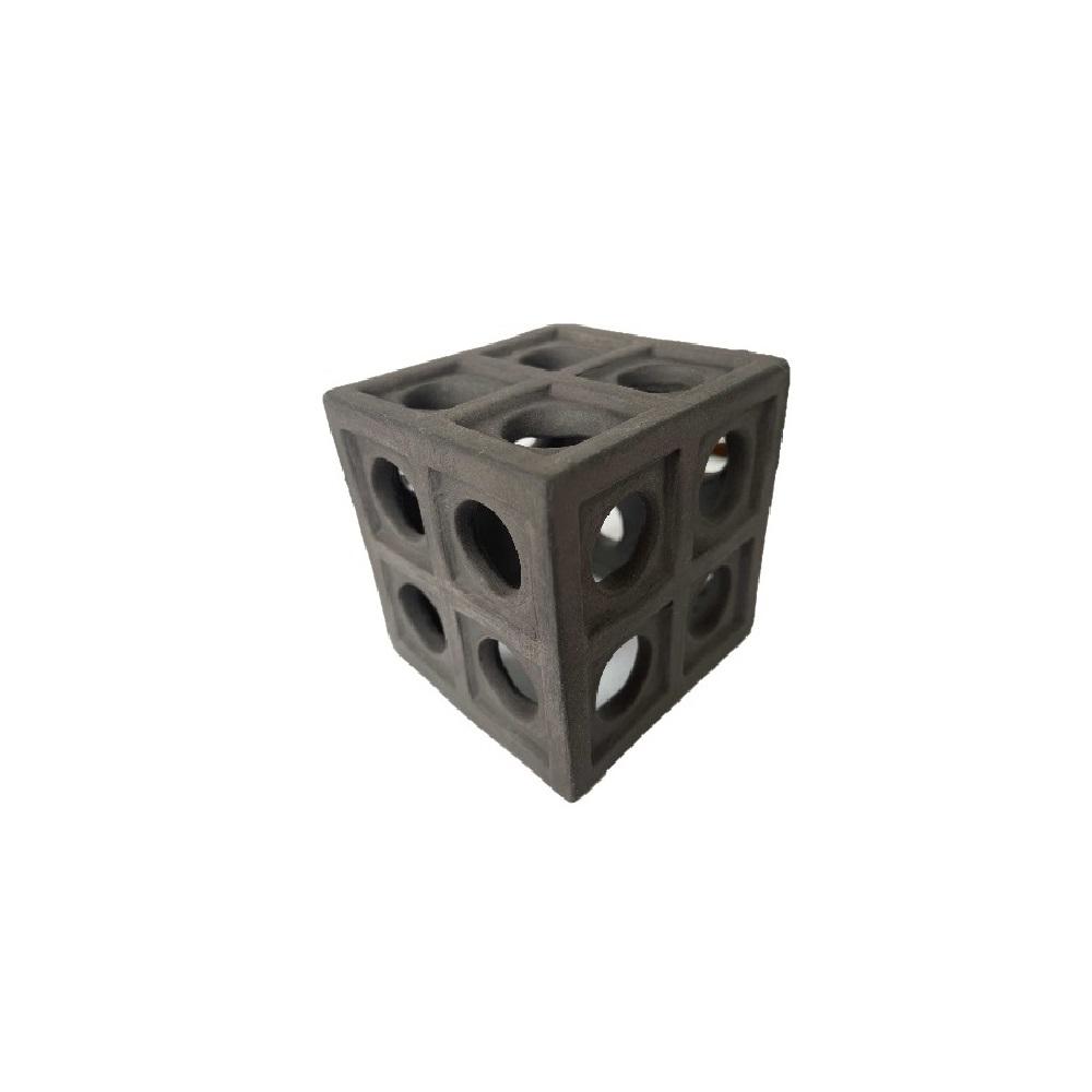 Декорация GLOXY Кубик для креветок,  6,5*6,5*6,5 см