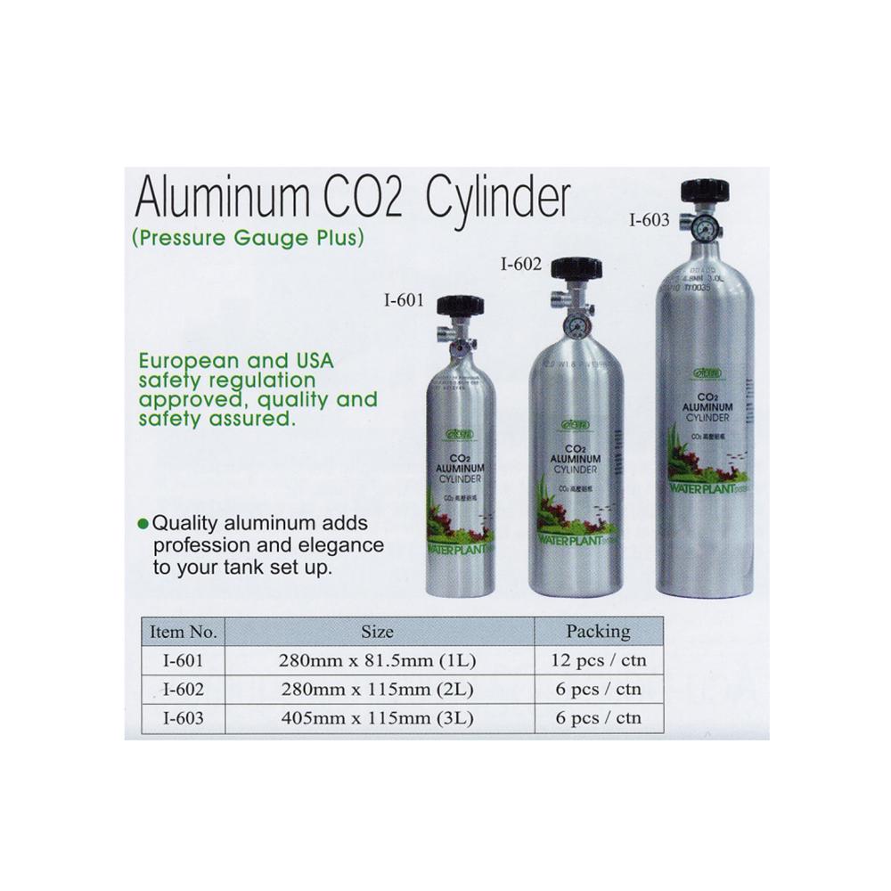 Алюминиевый  баллон CO2 с манометром для контроля давления в баллоне 3л